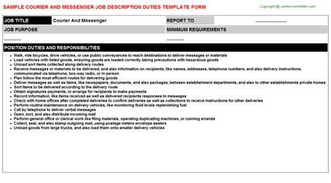 courier and messenger description