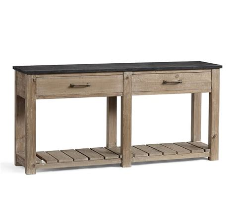 Parker Reclaimed Wood Console Table Pottery Barn Sofa Table Pottery Barn