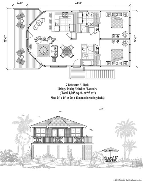 home floor plans on stilts stilt house plans just over 1 000 square feet piling