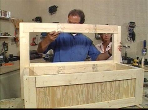 toy box ideas how to build a toy box bench hgtv