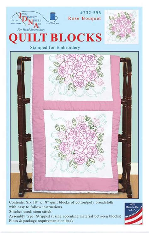 Dempsey Embroidery Quilt Blocks by Dempsey Sted Embroidery Pack 6 Quilt Blocks 18