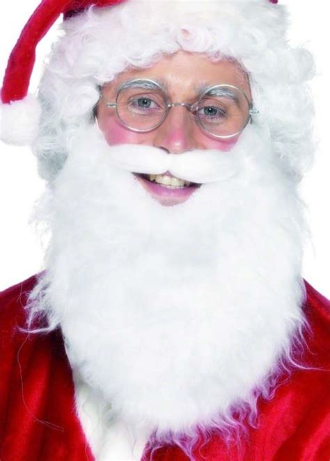 father christmass fake beard white bushy christmas santa claus fake beard