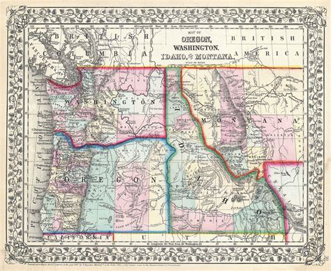 map of oregon and idaho file 1867 mitchell map of oregon washington idaho and