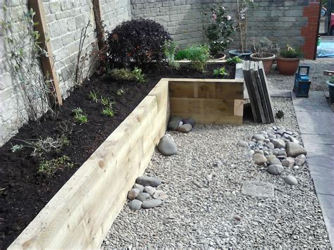 Garden Design Using Sleepers by Railway Sleepers As Garden Features J B Lanscapes