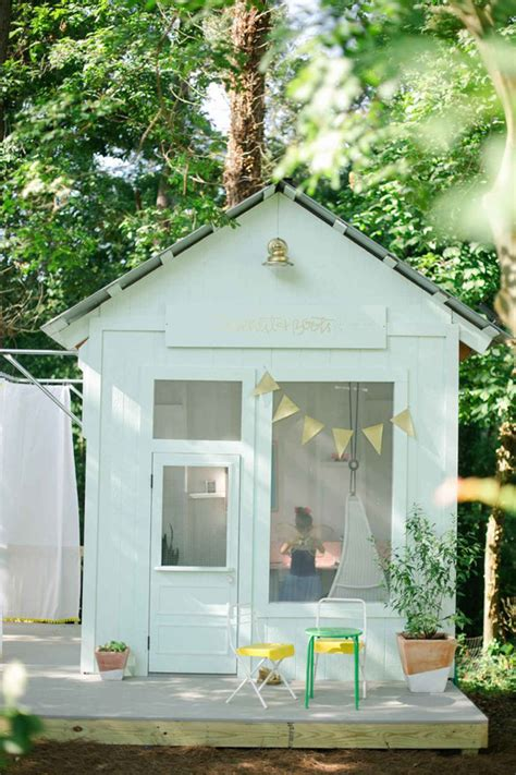 cheerful outdoor kids playhouses homemydesign