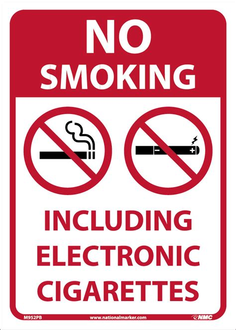 no smoking sign e cigarettes no smoking including electronic cigarettes 14x10