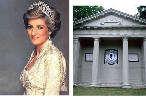 princess diana grave cemetery grave headstone princess diana birth and