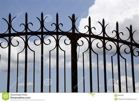 Modern House Design Plans wrought iron gate royalty free stock photo image 9826635