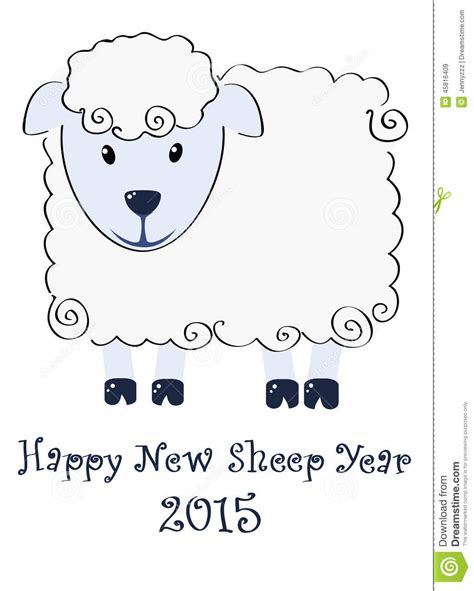 new year animal sheep happy new sheep year 2015 illustration stock vector