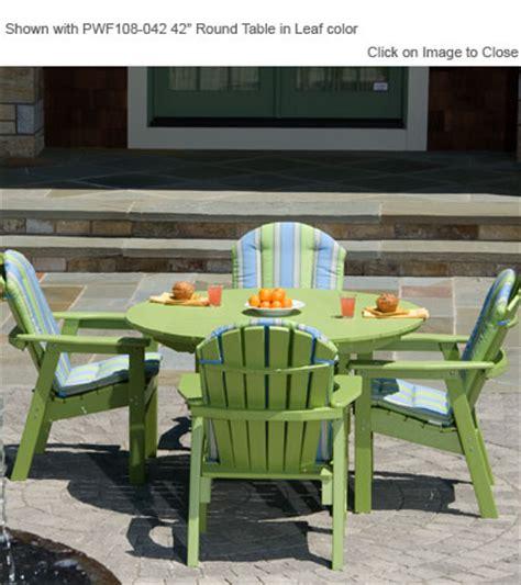 envirowood outdoor furniture envirowood outdoor poly furniture seaside casual sea021 adirondack shellback dining chair