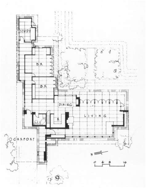 frank lloyd wright usonian floor plans plan 396 frank lloyd wright jacobs house source