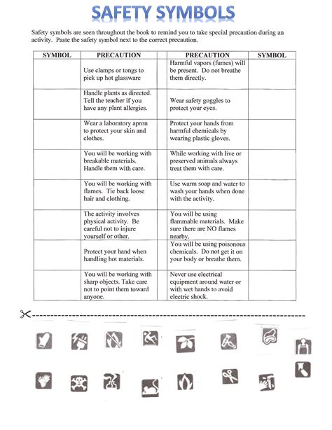 Lab Safety Worksheet Answers by Printables Lab Safety Worksheet Ronleyba Worksheets