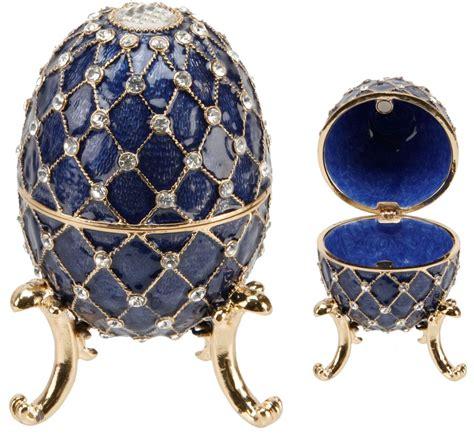 trinkets and enamel egg trinket box with crystals juliana treasured