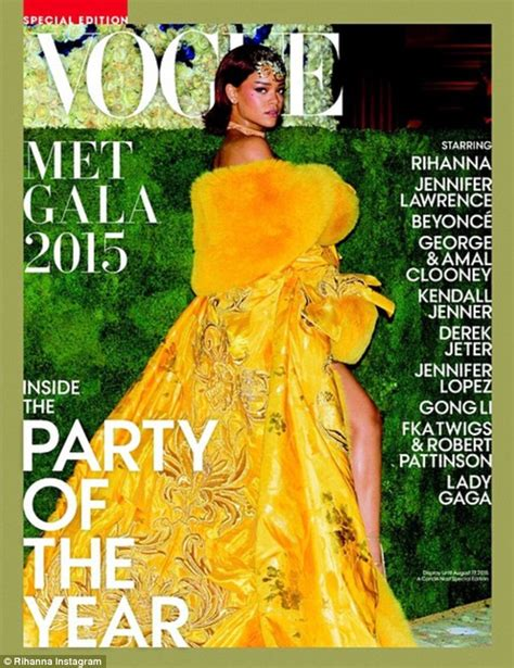 vogue and the metropolitan vogue reveals cover of special met gala issue featuring rihanna daily mail online