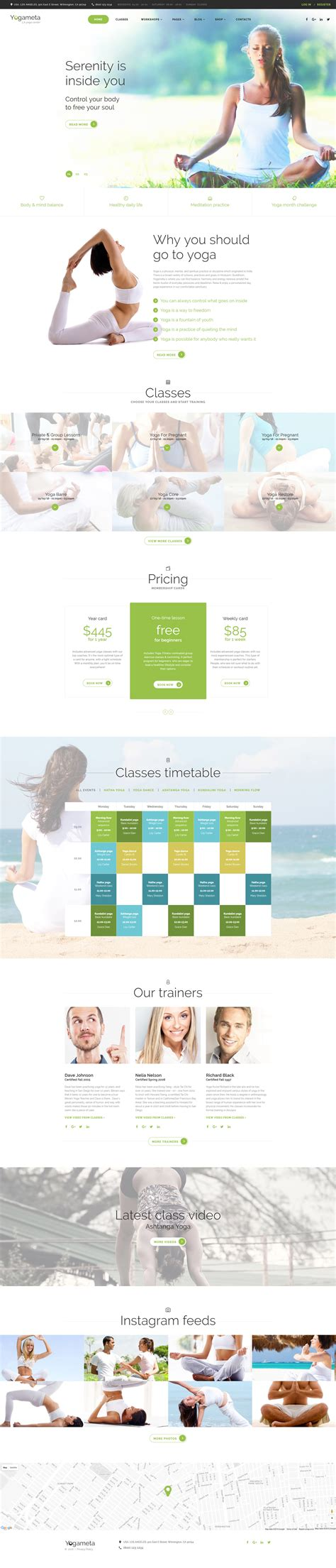 responsive website templates for yoga yoga website template