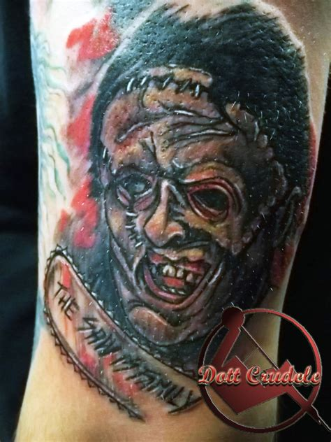 leatherface tattoo leatherface by dottcrudele on deviantart