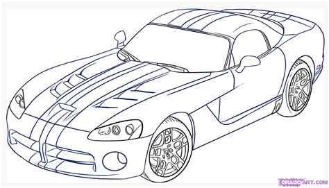 car drawing how to draw a dodge viper step by step cars draw cars