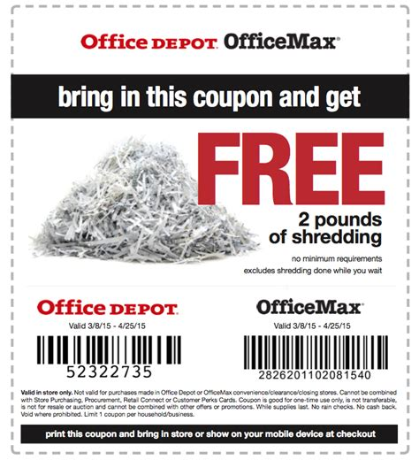 office depot coupons paper shredder office depot coupons shredder office depot shredding