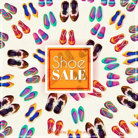 watercolor shoe sale background vector free - Shoe Sale