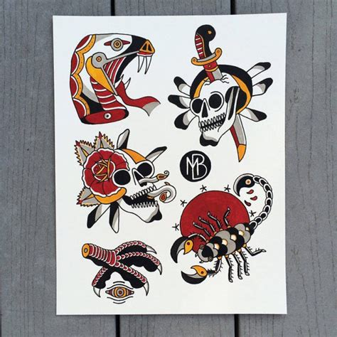 american traditional flash american traditional flash sheet by goblinlogic on