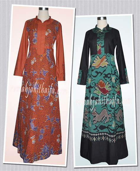 Gamis Ima Toyobo By Yumnaa gamis batik dan tenun ibu lala rumah jahit haifa