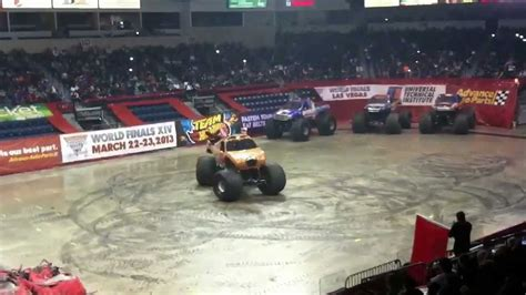 monster truck show hton coliseum monster jam state farm arena 9 youtube