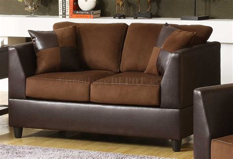 chocolate rhino microfiber brown bi cast sofa w options