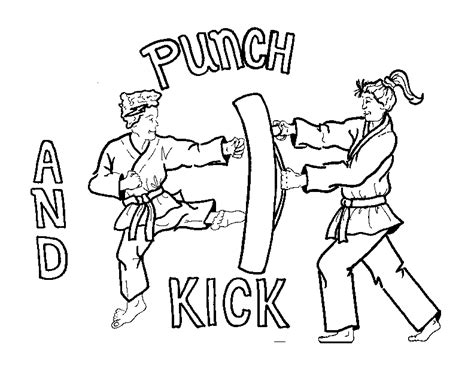 coloring page karate ata taekwondo coloring pages