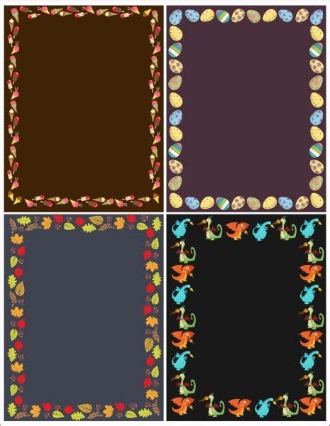 border templates for adobe illustrator border templates egg cream leaf dragon icons decor free