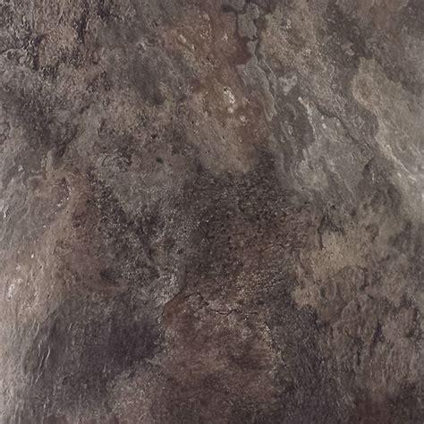 winton ideal series 457 x 457mm charcoal brown slate self stick vinyl tile 16 pack