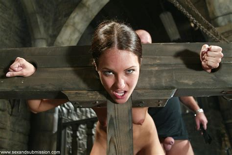 Sexy Girl Is Bound In A Wooden Stock And Fucked In Her St Bdsm Pichunter