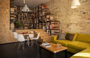 Table L Ideas For Living Room Vintage Exposed Brick Wall Living Room Interior Decor