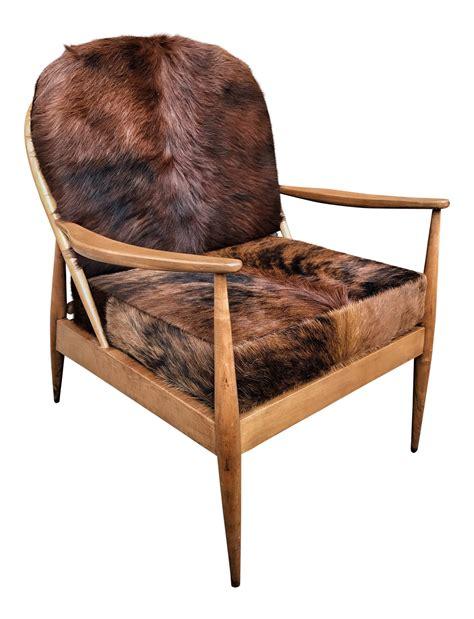 mid century modern cowhide chair chairish - Modern Cowhide Chairs