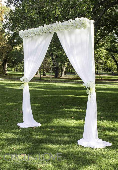 garden wedding arch wedding flowers