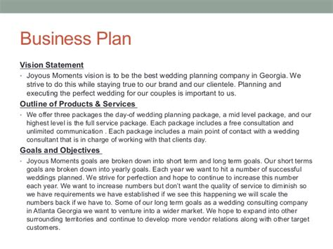 sle business plan vision statement wedding powerpoint