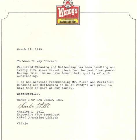 Endorsement Letter For Restaurant Wendy S Endorsement Letter Yelp