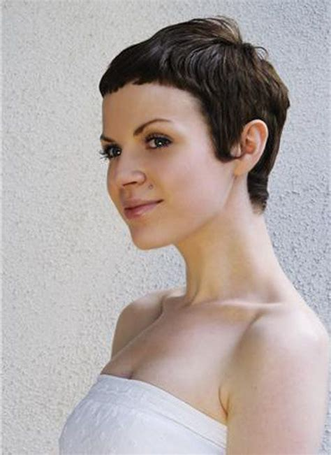 cutting short fringe on ultra short hair pixie cuts with super short bangs a collection of hair