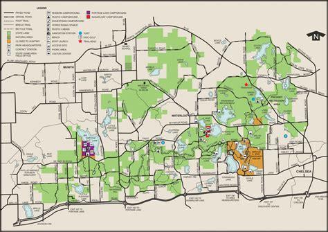 area map of waterloo meridian baseline recreation area state