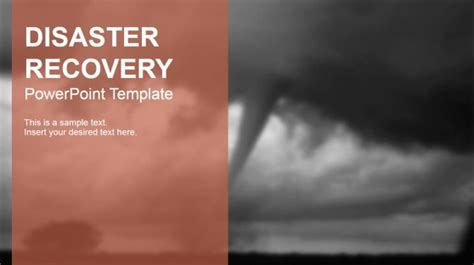 Disaster Recovery Powerpoint Templates Disaster Recovery Powerpoint Template