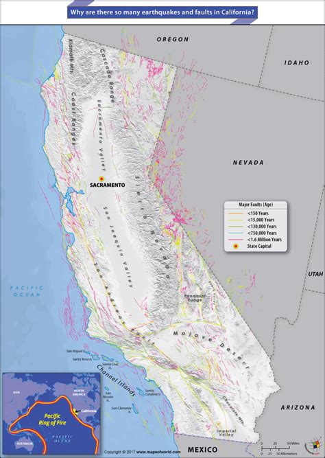 california map earthquake faults why are there so many earthquakes and faults in california