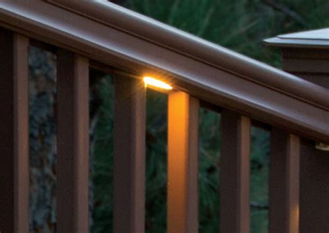 rail deck lighting deck rail lighting led deck lights timbertech