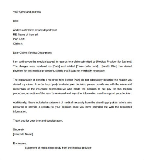 Appeal Letter Due To Condition 11 Appeal Letter Templates Free Sle Exle Format Free Premium Templates