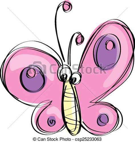 imagenes mariposas en caricatura clip art de vectores de rosa mariposa divertido