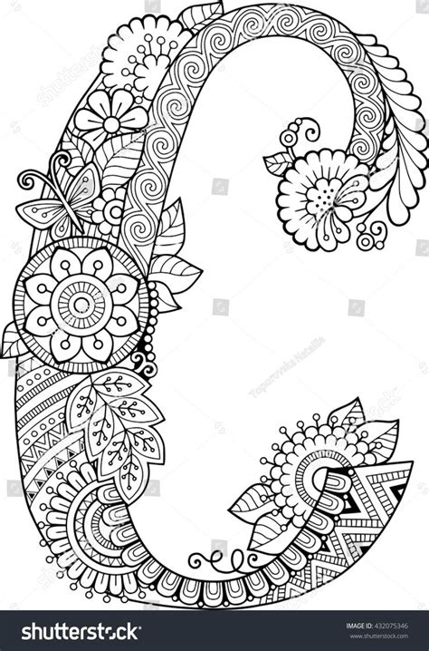 Letter C Coloring Pages For Adults by Best 25 Letter C Ideas On