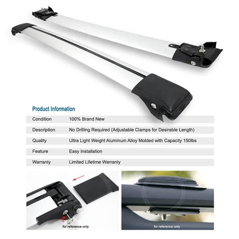 universal fit roof top crossbar utility rack carrier