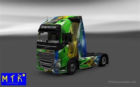 2014 volvo truck for brasil 2014 skin v3 for volvo fh16 euro truck simulator