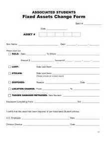 asset form template 9 best images of capital asset disposal form fixed asset