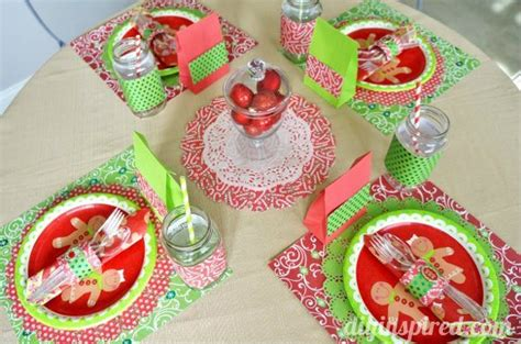 Halloween Kid Decorations - kids christmas table setting papercraftedchristmas diy inspired