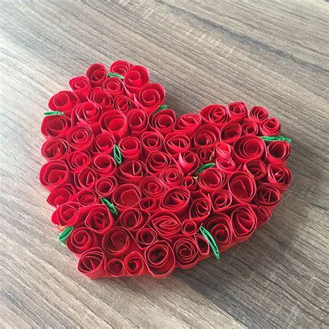 valentinstag deko basteln diy rosenherz basteln f 252 r valentinstag oder muttertag ein