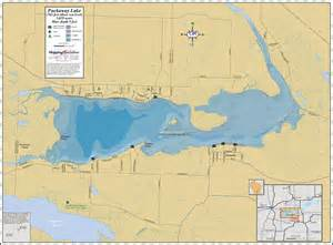 map of lakes puckaway lake wall map
